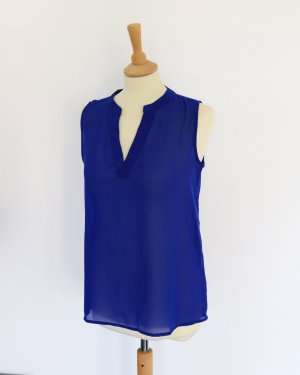 ärmellose Blaue Tunikabluse Amisu S semitransparent