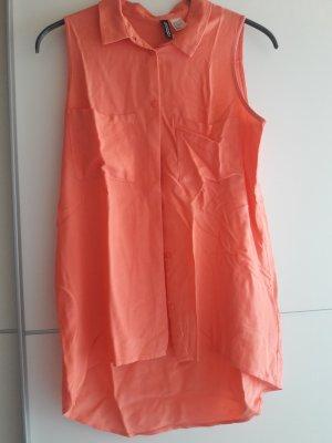 H&M Mouwloze blouse zalm