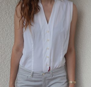 Tommy Hilfiger Sleeveless Blouse white cotton