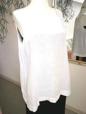 Silkroad Sleeveless Blouse white linen