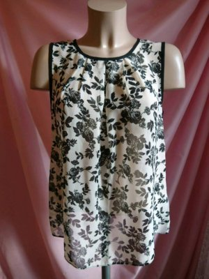 Blouse Top black-oatmeal polyester