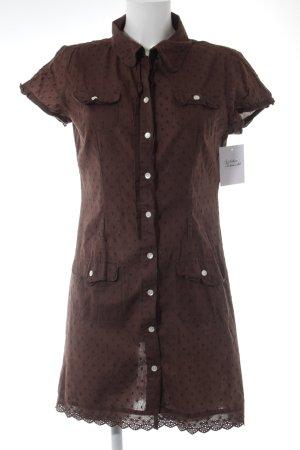 Blouse sans manche brun motif tricoté lâche style mode des rues