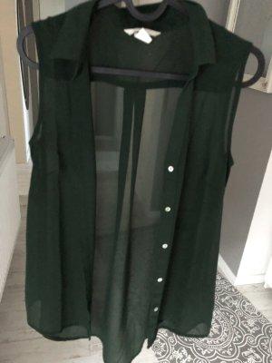 Ärmellose Bluse dunkelgrün