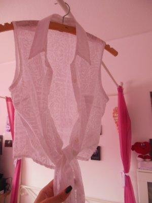 ärmellose Bluse, Gr. 34, am Bauch zum Binden, absolut neuwertig