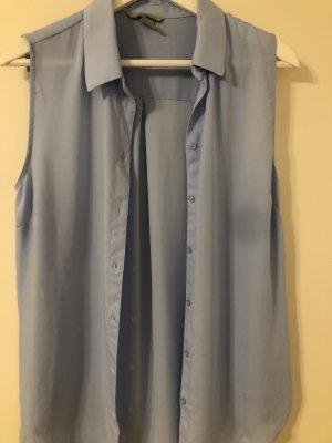 Ärmellose Bluse hellblau H&M, 40