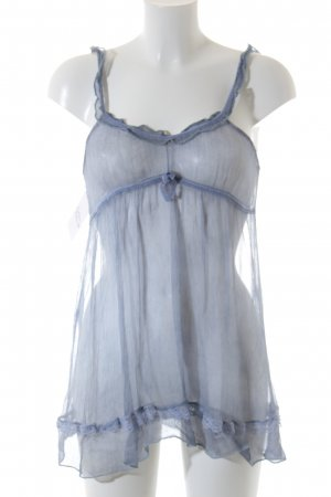 ärmellose Bluse himmelblau klassischer Stil