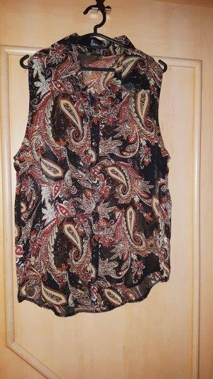 Ärmellose Bluse im Vintage-Look