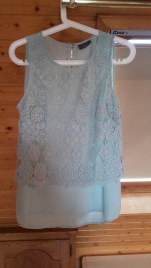 Ärmellose Bluse in Mintgrün