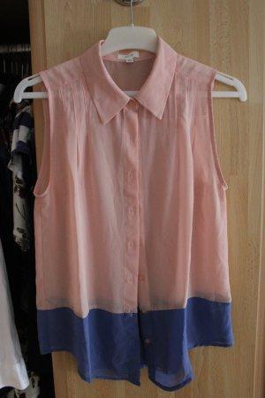 c89326c3aa87b Ärmellose Bluse in Rosa und Blau