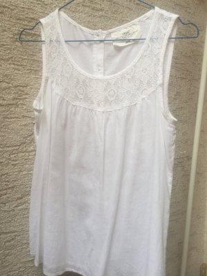 Ärmellose Bluse in Weiß von H&M