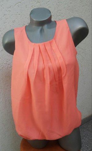 Ärmellose Bluse koralle/orange, Jennifer Taylor, Gr 36