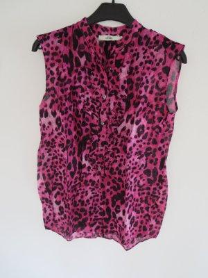 Ärmellose Bluse Leo pink schwarz