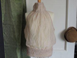 ärmellose Bluse, mit ausgefallen Kragen
