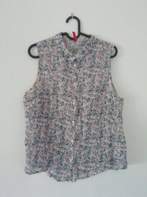 Ärmellose Bluse mit Blumen Print