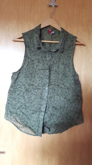 H&M Divided Blusa verde scuro-cachi