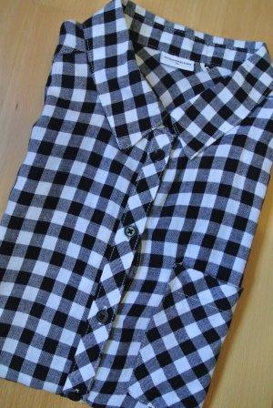 Jacqueline de Yong Mouwloze blouse zwart-wit Katoen