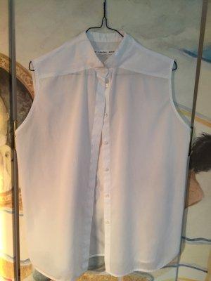 Ärmellose Bluse mit kleinem Stehkragen
