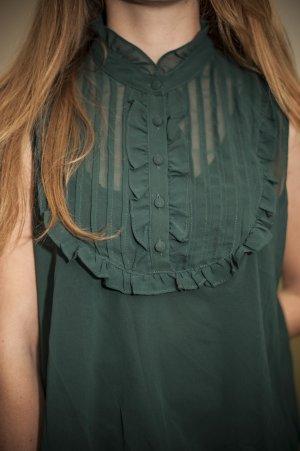 Ärmellose Bluse mit Knopfleiste