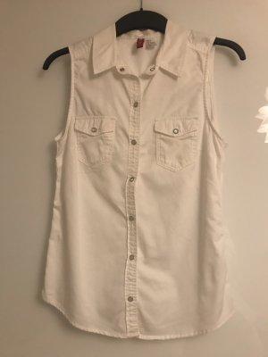 H&M Divided Blouse sans manche blanc