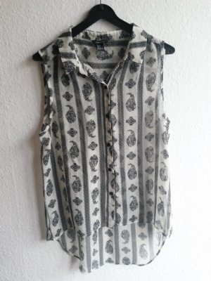 Ärmellose Bluse mit Muster Gr. M Forever21