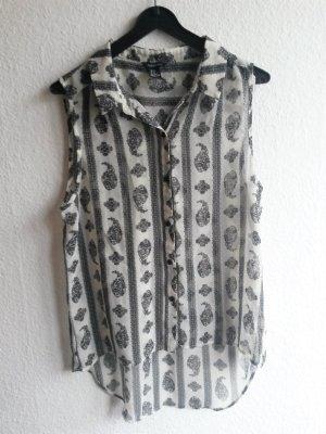 Ärmellose Bluse mit Muster Gr. M Forever21