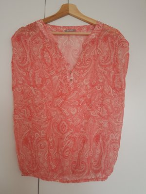 Ärmellose Bluse mit Paisley Muster