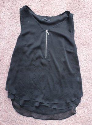 Ärmellose Bluse mit Reißverschluss