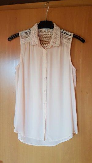 New Look Blusa sin mangas crema-rosa