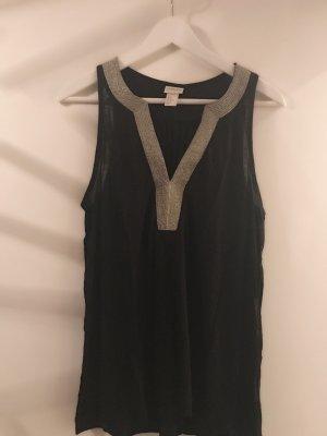 Ärmellose Bluse mit V-Schnitt