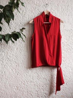 Zara Blouse sans manche rouge-rouge brique