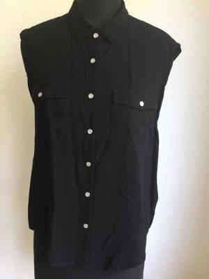 Ärmellose Bluse. schwarz, Cheap Monday, Größe M
