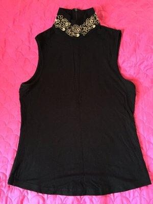 Ärmellose Bluse schwarz Elegant von Natali Schilouelle, Gr.S