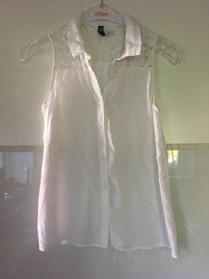 Ärmellose Bluse von H&M in weiß Größe XS