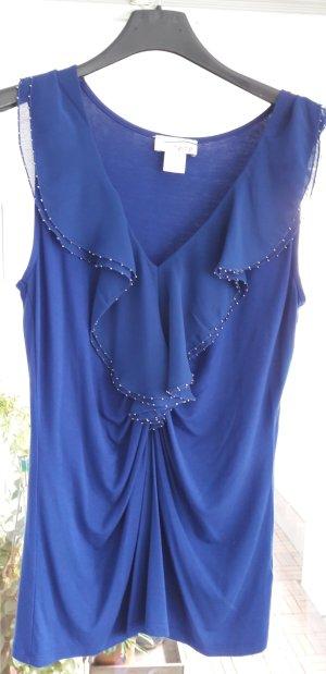 Heine Camisa con cuello V azul