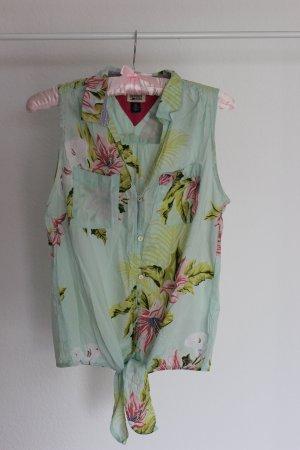 Ärmellose Bluse von Hilfiger Denim zum Binden mit floralem Print, Gr. S