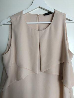 Ärmellose Bluse von Zara, nude, Gr. M