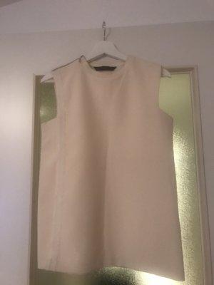Ärmellose Bluse Zara Creme