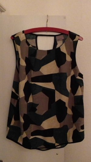 Ärmellose Camouflage Bluse