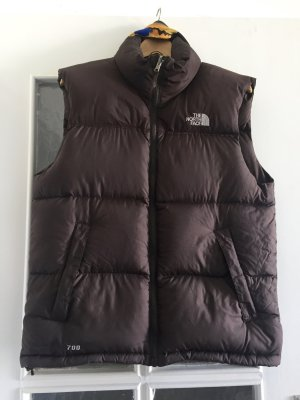 The North Face Donsvest taupe-donkerbruin Polyester