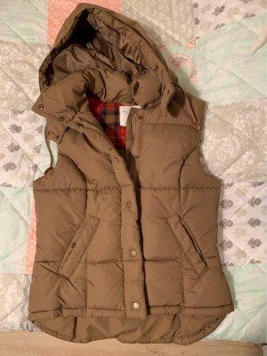 H&M Down Vest light brown-camel