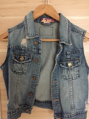 H&M Denim Vest dark blue-blue