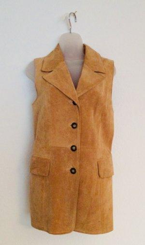 Vintage Veste en cuir multicolore daim