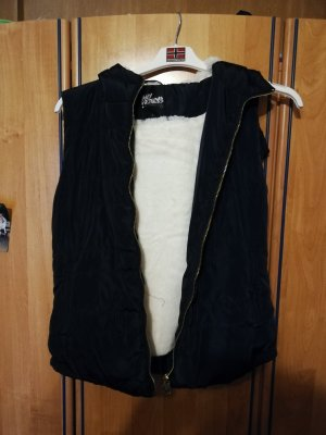 Fur vest dark blue