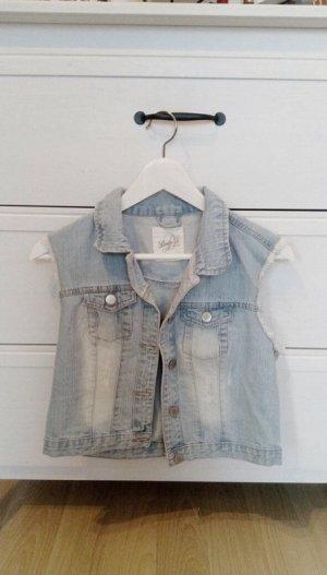 Ärmellose Jeans-Jacke