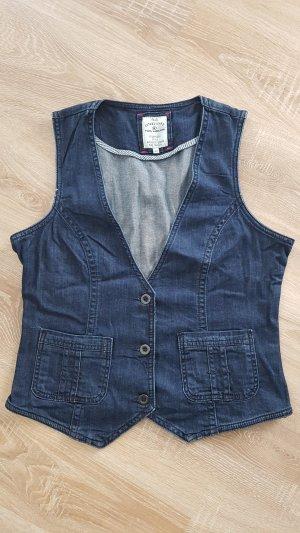 Tom Tailor Gilet en jean bleu foncé