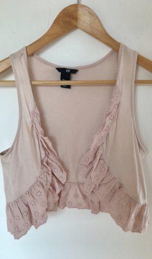 H&M Veste à franges vieux rose
