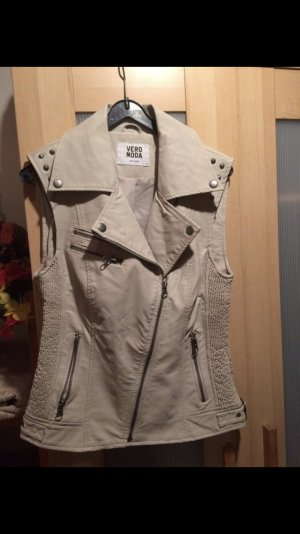 Vero Moda Leather Vest cream