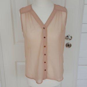 ärmellose, rosa Bluse