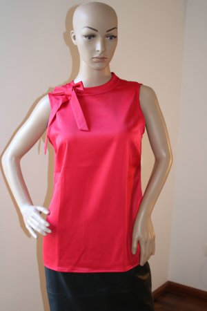 Comma Sleeveless Blouse red