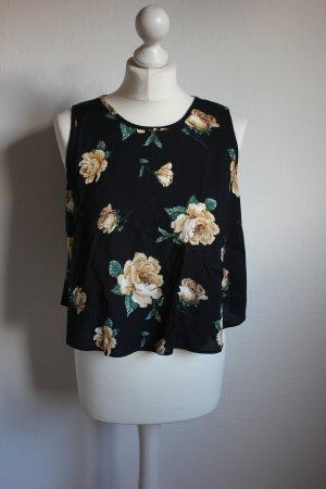 ärmellose(s) Shirt / Bluse mit Rosenmuster Asos Blumen Vintagestil